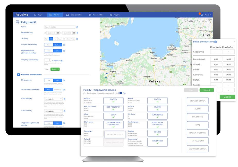 Aplikacja do planowania tras
